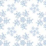 Ano novo e teste padrão sem emenda do Natal com flocos de neve ilustração royalty free