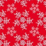 Ano novo e teste padrão sem emenda do Natal com flocos de neve ilustração do vetor