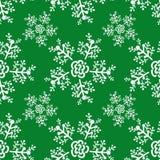 Ano novo e teste padrão sem emenda do Natal com flocos de neve ilustração stock