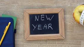 Ano novo escrito fotografia de stock royalty free