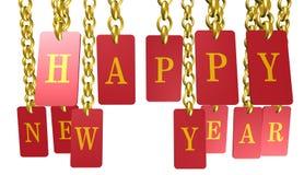 Ano novo feliz, ícone do Feliz Natal, sinal, ilustração 3D Imagem de Stock Royalty Free