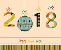 Ano novo feliz 2018 Imagem de Stock
