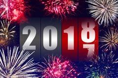 Ano novo feliz 2018 imagem de stock royalty free