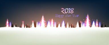 Ano novo feliz 2018 Foto de Stock