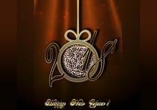 Ano novo feliz 2018 Imagens de Stock Royalty Free
