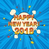 Ano novo feliz 2018 ilustração stock