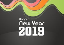 Ano novo feliz 2019 foto de stock royalty free