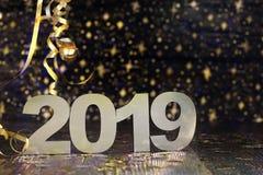 Ano novo feliz 2019 foto de stock