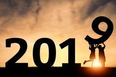 Ano novo feliz 2019 fotografia de stock