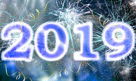 Ano novo feliz 2019 imagens de stock royalty free