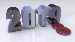 Ano novo feliz 2019 ilustração do vetor