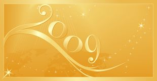 Ano novo feliz 2009! Fotografia de Stock Royalty Free