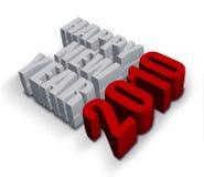 Ano novo feliz 2010 ilustração do vetor