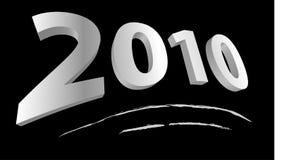 Ano novo feliz 2010 ilustração stock