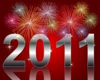 Ano novo feliz 2011 ilustração do vetor