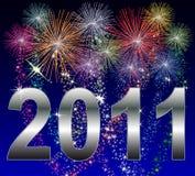 Ano novo feliz 2011 ilustração stock
