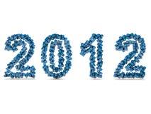 Ano novo feliz 2012 Imagens de Stock Royalty Free