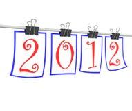 Ano novo feliz 2012 Ilustração Stock