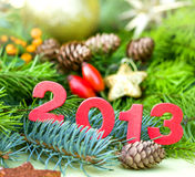 Ano novo feliz 2013 Fotos de Stock Royalty Free