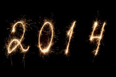 Ano novo feliz 2014. Imagens de Stock Royalty Free