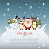 Ano novo feliz ilustração do vetor