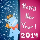 Ano novo feliz 2014! Fotografia de Stock Royalty Free