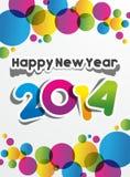 Ano novo feliz 2014 ilustração do vetor