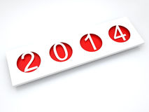 Ano novo feliz 2014. Foto de Stock