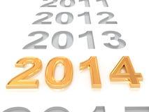 Ano novo feliz 2014 Imagem de Stock Royalty Free