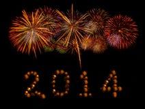 Ano novo feliz 2014 Foto de Stock Royalty Free