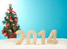Ano novo feliz 2014 Fotos de Stock Royalty Free