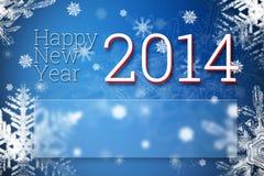Ano novo feliz 2014 Fotografia de Stock Royalty Free
