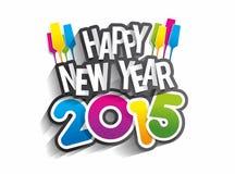 Ano novo feliz 2015 Fotografia de Stock Royalty Free