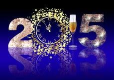 Ano novo feliz 2015 Foto de Stock Royalty Free