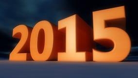 Ano novo feliz 2015 Imagem de Stock Royalty Free