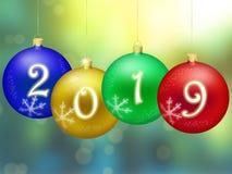 Ano novo feliz 2019 Imagens de Stock