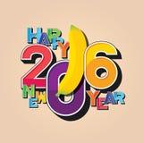 Ano novo feliz 2016 Fotografia de Stock