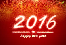 Ano novo feliz 2016 Imagem de Stock Royalty Free