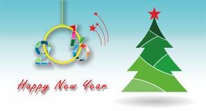 Ano novo feliz! ilustração do vetor