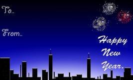 Ano novo feliz. ilustração do vetor