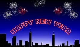 Ano novo feliz. ilustração stock
