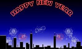 Ano novo feliz. ilustração royalty free