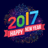 Ano novo feliz 2017 Imagens de Stock