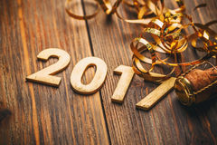 Ano novo feliz 2017 Fotos de Stock Royalty Free