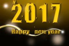 Ano novo feliz 2017 Fotos de Stock Royalty Free