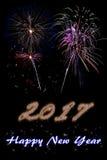 Ano novo feliz 2017 Fotos de Stock