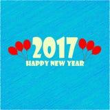 Ano novo feliz 2017 Fotografia de Stock Royalty Free