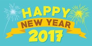 Ano novo feliz 2017 Foto de Stock Royalty Free