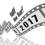 Ano novo feliz 2017 ilustração stock