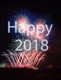 Ano novo feliz 2018 Foto de Stock Royalty Free